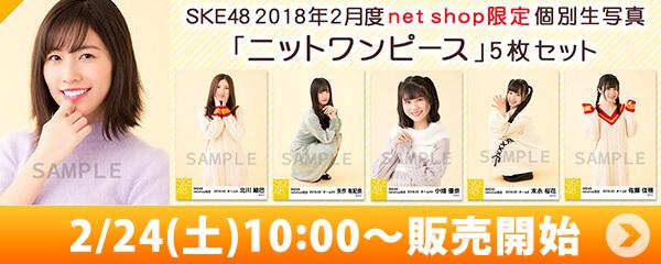 SKE48 2018年2月度 net shop限定個別生写真「ニットワンピース」5枚セット