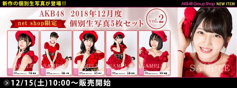 AKB48 2018年12月度 net shop限定個別生写真5枚セットvol.2