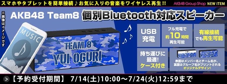 AKB48 チーム8 個別Bluetooth対応スピーカー