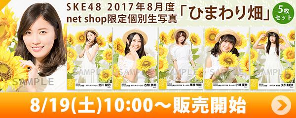 SKE48 2017年8月度 net shop限定個別生写真「ひまわり畑」5枚セット