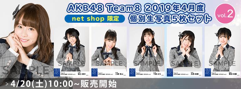 AKB48 チーム8 2019年4月度 net shop限定個別生写真5枚セットvol.2