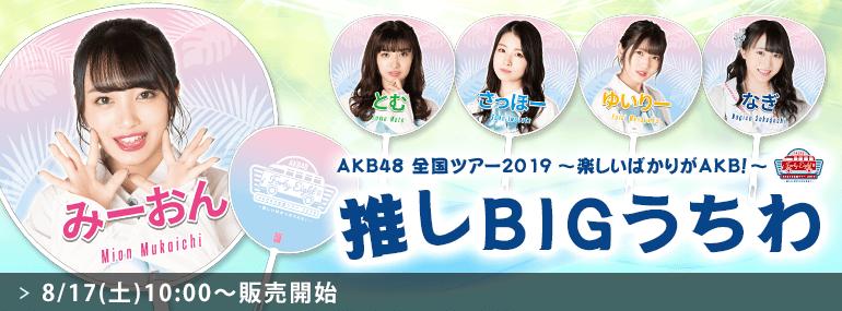 AKB48 全国ツアー2019~楽しいばかりがAKB!~ 推しBIGうちわ