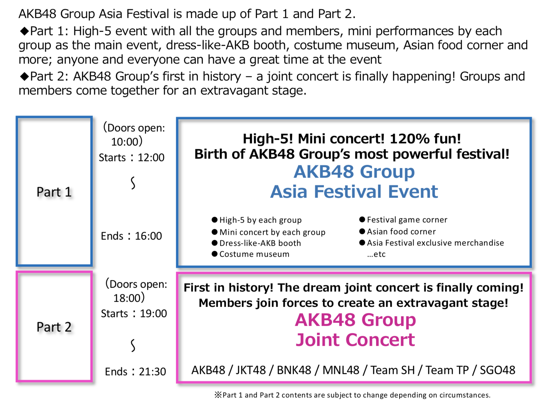 AKB48 Group Asia Festival 2019 in Bangkok Presented by
