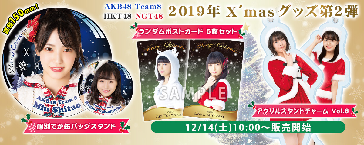 AKB48 チーム8/HKT48/NGT48 2019年X'mas グッズ