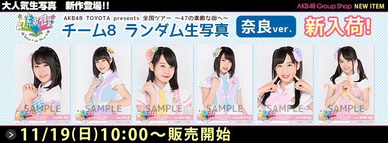 AKB48 TOYOTA presents チーム8 全国ツアー ~47の素敵な街へ~ ランダム生写真 奈良ver.