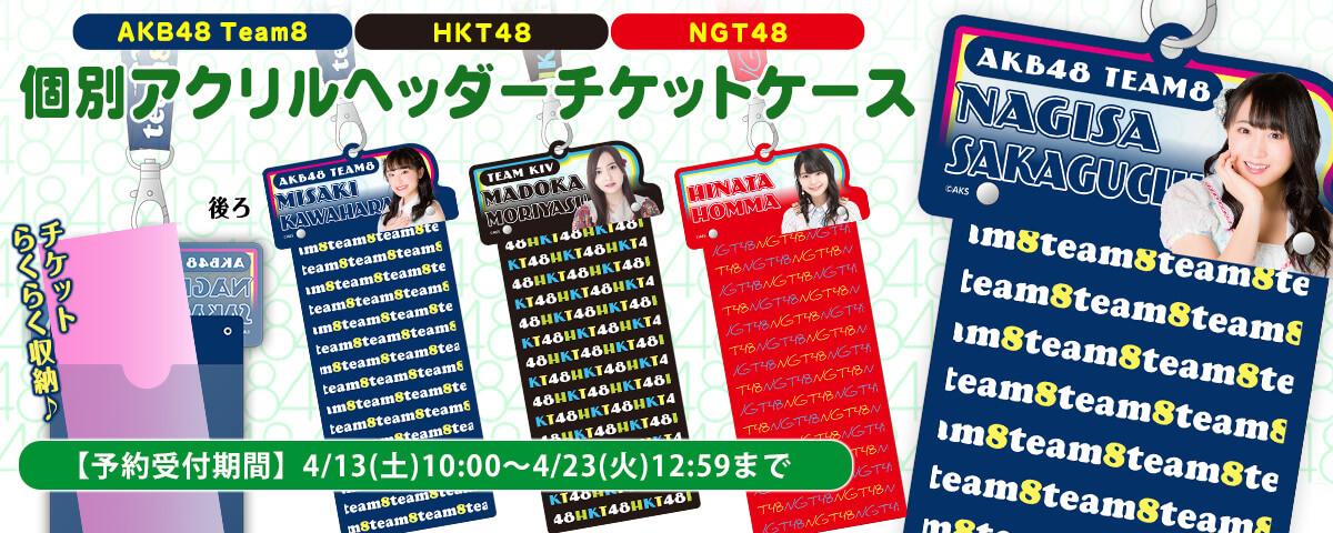 AKB48 チーム8 個別アクリルヘッダーチケットケース