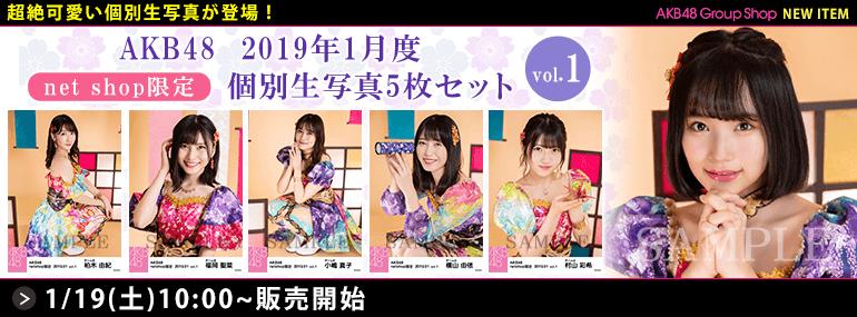 AKB48 2019年1月度 net shop限定個別生写真5枚セットvol.1