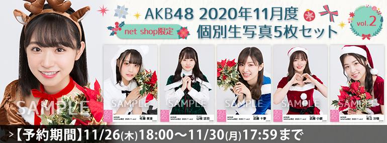 AKB48 2020年11月度 net shop限定個別生写真5枚セットvol.2
