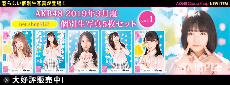 AKB48 2019年3月度 net shop限定個別生写真5枚セットvol.1